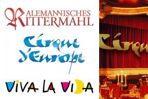 Mittelalterliche Tafelfreuden – ein Festmahl für die Sinne im »Teatro dell' Arte – mediterrane Lebensfreude und Leichtigkeit – jedes Veranstaltungs-Logo spricht für sich.