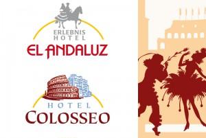 Die exklusiven Sternehotels im Europapark – einmal spanisch, einmal italienisch in Typografie und Bild