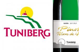 """Ein """"sprechendes"""" Logo – die Weinterrassen, gekrönt von der Ehrentrudis-Kapelle im Sonnenschein: Weine vom Tuniberg"""
