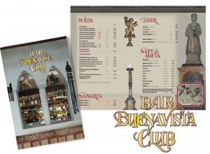 Die Buena-Vista-Bar-Karte im spanisch-maurischen Stil