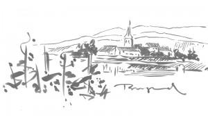 Illustration zu den Weinregionen Europas – hier Burgund.