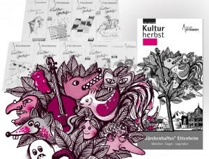Neun Jahre lang Illustrationen und Sponsoring für den Kulturherbst in Ettenheim.