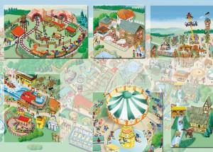 Info-Plan für den Freizeitpark Taunus-Wunderland