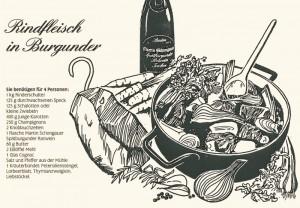 Illustration zu (eigenen) Rezepten für den Badischen Winzerkeller.