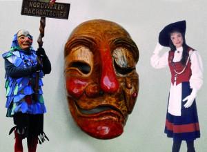 Produktgestaltung einer ganz anderen Art: Entwurf von Maske und Häs für den bachdatscher und die Uniform der Marketenderin