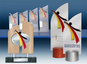 Diese Pokale sind Unikate und deshalb einem deutschen Meister würdig
